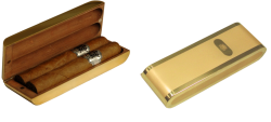 Gold plated cigar pocket holder