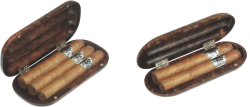 Cigar pocket holder for 2 or 3