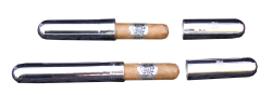 Silver tube for cigars