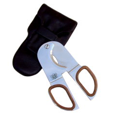 Cigar cutter in leather case